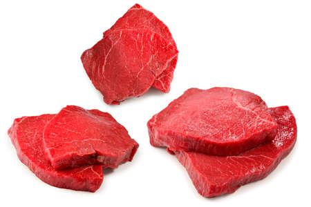 Beef steak isolated on white background. Zdjęcie Seryjne