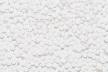 Sugar substitute pills isolated on white background.
