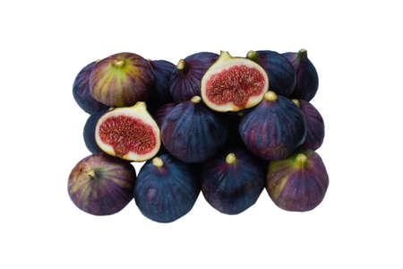 Tasty figs isolated on white background.