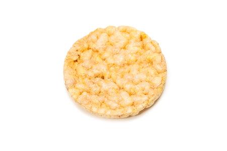 Rice wafer isolated on white background.