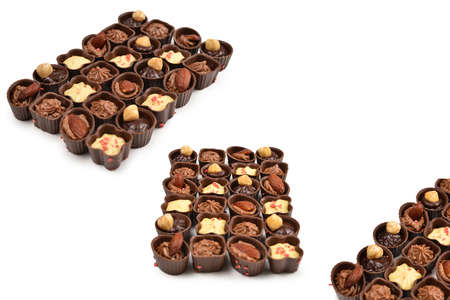 Mix of tasty chocolate candy collection. 스톡 콘텐츠