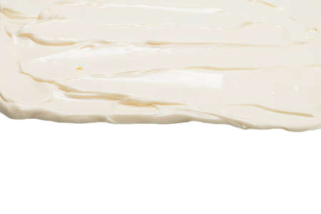 White whipped cream texture. Top view. Standard-Bild