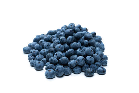 Group of tasty fresh blueberry isolated on a white background.