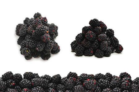 Tasty blackberry isolated on white background.