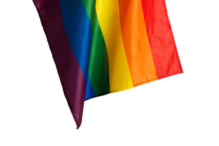 Rainbow flag as a background. Top view. LGBT flag.