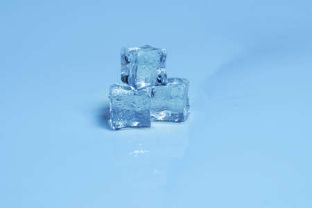 Ice crystal cubes, space for text or design. Imagens
