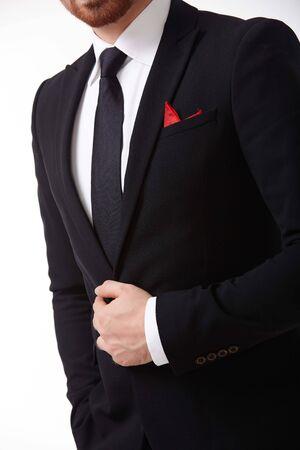 terno: el hombre en traje  Foto de archivo