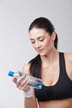 bootle: Sports girl with bootle of water Stock Photo
