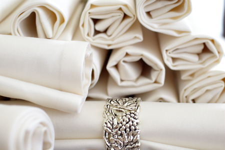 luxury lifestyle: set napkins with rings