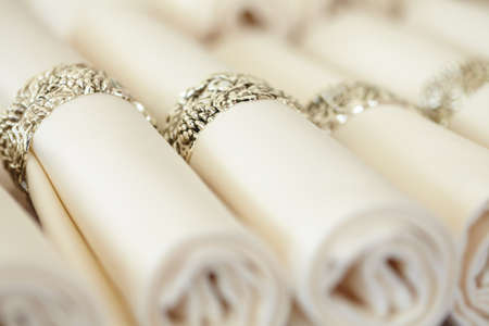 servilletas: servilletas conjunto con anillos