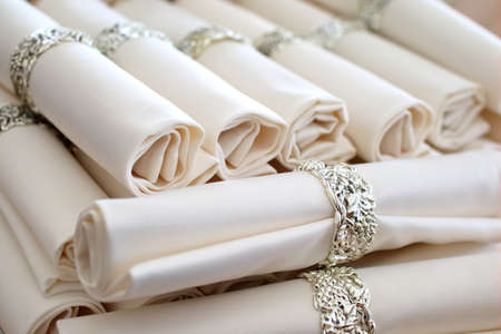 serwetki: set napkins with rings