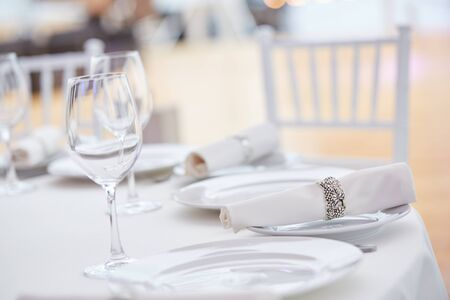table setting for a holiday close-up