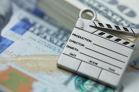 clapperboard, cinema is a lot of money