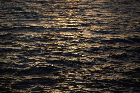 during: surface of the water during sunset