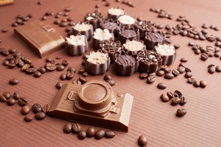 cafe bombon: dulces de chocolate y granos de caf�