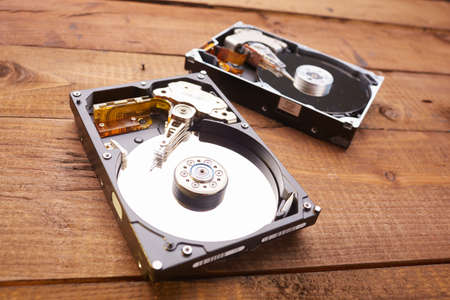 disks: hard disk closeup