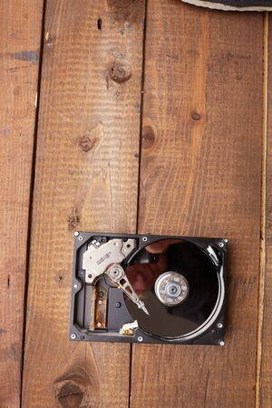 disk: hard disk closeup