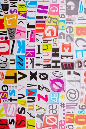 clippings: letters from magazine clippings