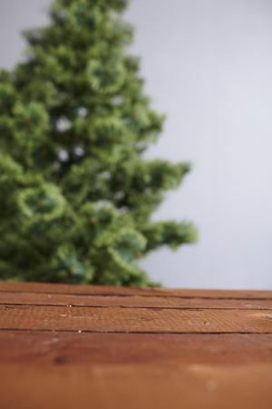 undecorated: Christmas tree undecorated Stock Photo