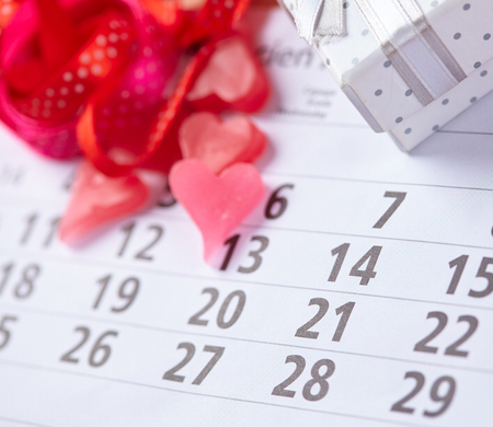february 14: Gifts for February 14 on the calendar