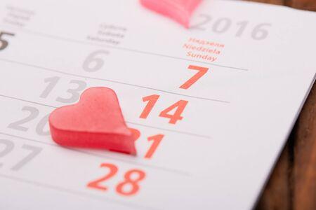 14: February 14 on the calendar Stock Photo