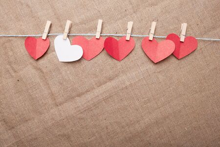 clothespins: hearts on clothespins