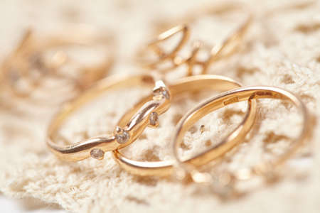 several: several gold rings