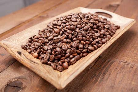 platter: coffee beans on a platter