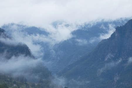 montenegro: mountain scenery in Montenegro Stock Photo