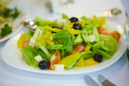 cold cut: delicious cold appetizer vegetable salad Stock Photo