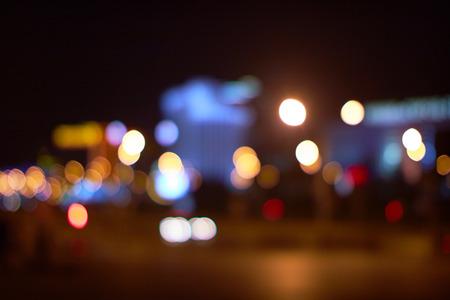 Luci della città astratto Archivio Fotografico - 82921334