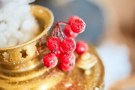 Samovar and cranberry christmas