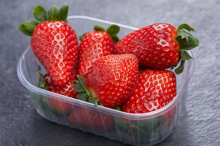 Beautiful and delicious fresh strawberries