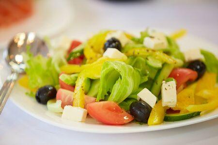 delicious cold appetizer vegetable salad Foto de archivo