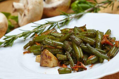healthy vegan dish braised green beans