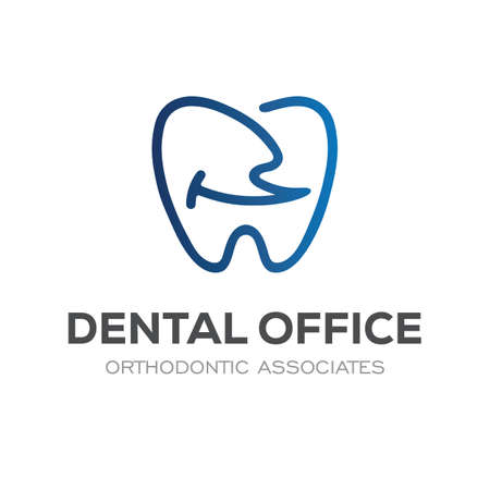 Dental Clinic Logo Design Dentist Logo Tooth abstract Linear smile