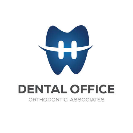 Dental Clinic Logo Design Dentist Logo Tooth abstract orthodontic Illustration