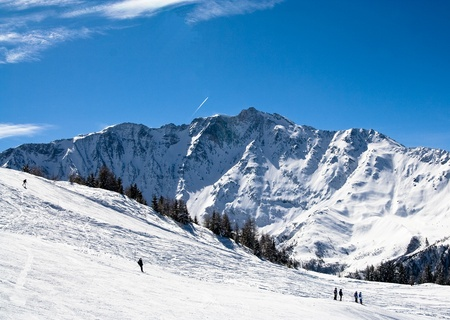 Ski resort Les Arcs. France Stock Photo