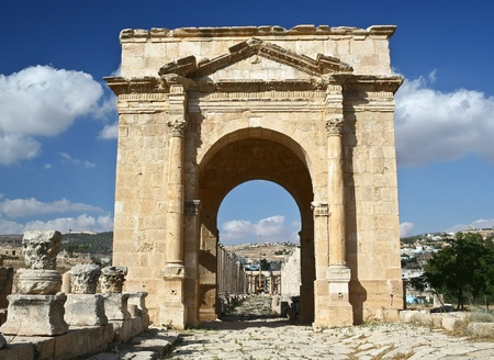 ancient jerash ruins jordan Stock Photo - 9635252