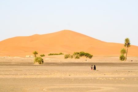 Moroccan desert dunes landscape Stock Photo - 9956508