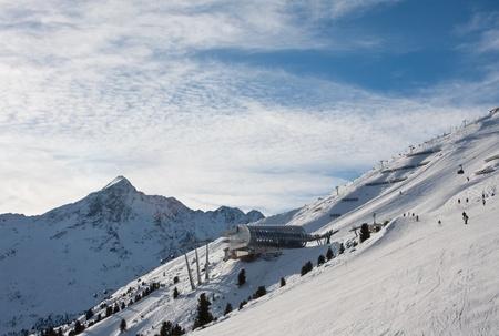 On the slopes of the ski resort of Solden. Austria