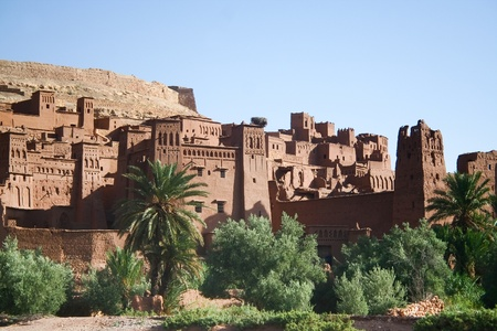 ben: The Kasbah Ait ben haddou in Morocco Stock Photo