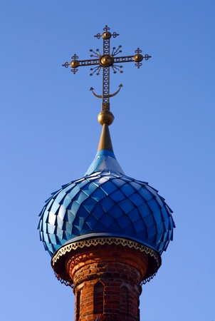 Protecting Veil of the Temple Dome Presvjatoj Lady. Moscow. photo