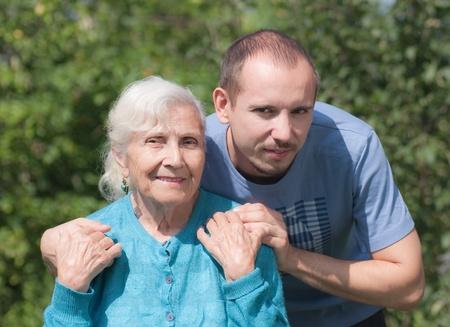 Grandmother and grandchildren  photo