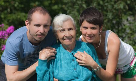 Grandmother and grandchildren of adults Stock Photo - 10913058