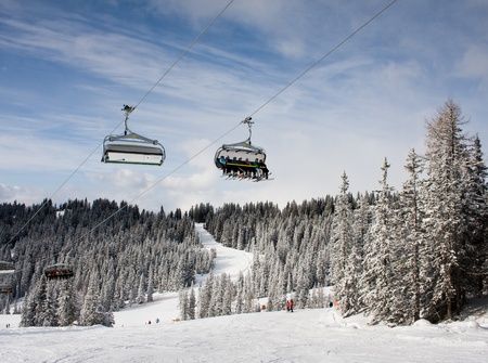Ski resort  Schladming . Austria Reklamní fotografie