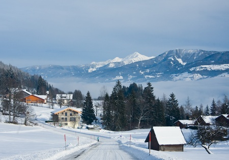 Winter in the alps. Styria, Austria