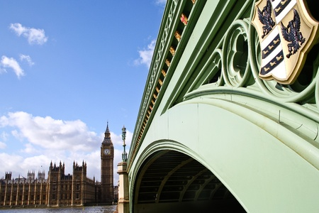 Parliament and bridge, London, England photo