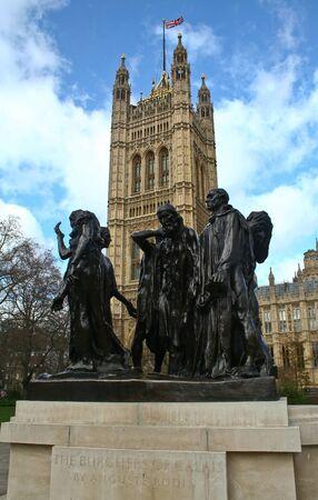 rodin: Auguste Rodin Sculpture Group �Citizens of Calais�. London Stock Photo