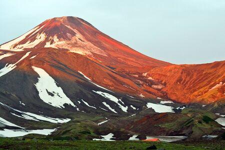kamchatka: Kamchatka; vulcano Avachinsky Archivio Fotografico